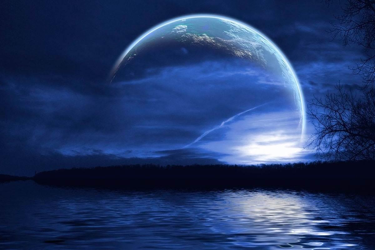 Природные картинки, лунная соната открытка