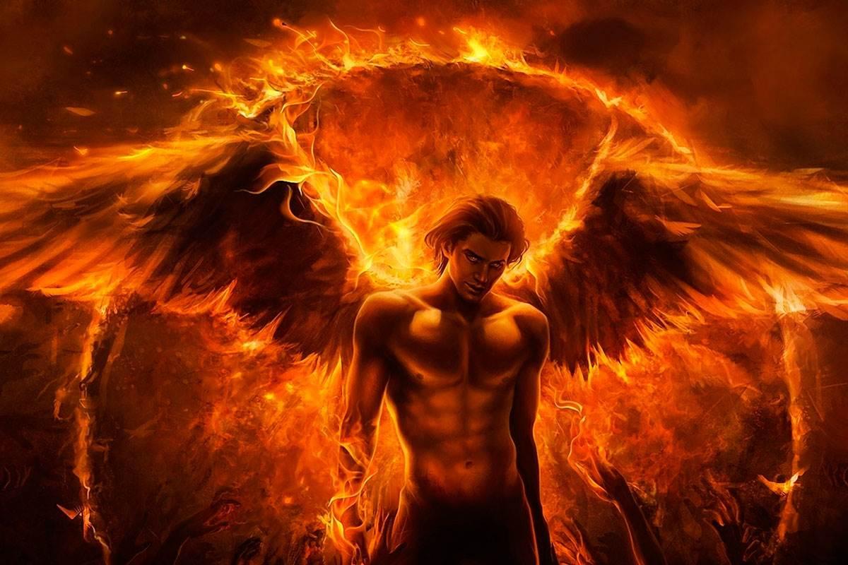 Демон с огнем картинки